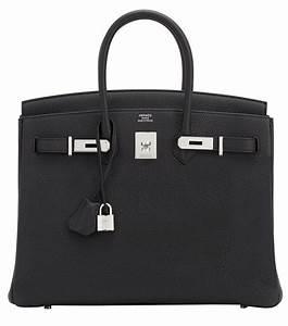 Hermes Birkin Bag 35cm Black Togo Leather  Hermes
