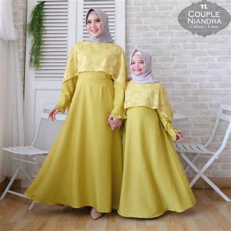baju couple mom  kid niandra brokat model busana muslim