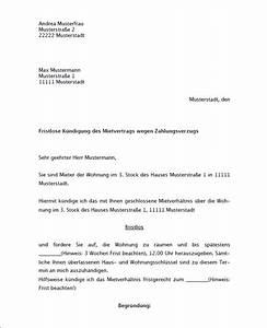 Gründe Für Fristlose Kündigung Mieter : muster zum download k ndigung mietvertrag durch vermieter ~ Lizthompson.info Haus und Dekorationen