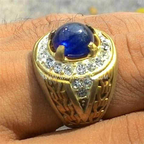 Batu Cincin Blue Safir Menawan batu cincin permata blue safir kode 343 wahyu mulia