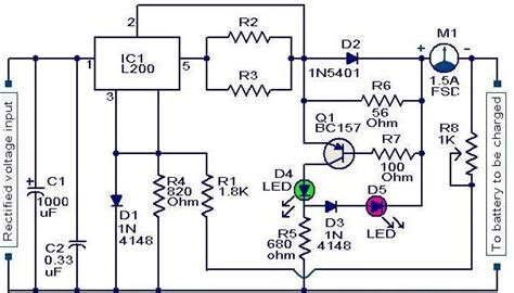 battery charger circuit power supply diagram
