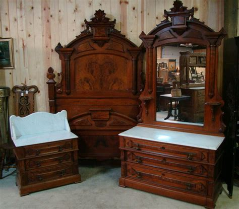 Bedroom Furniture Sets On Ebay by Great 3 1870 S Walnut Marble Top Bedroom