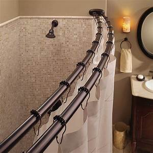 Bathroom shower curtain rods curtain menzilperdenet for Bathroom curtain poles
