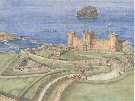 reconstruction  auldhame castle