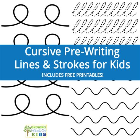 cursive pre writing lines amp strokes for free 152 | cursive prewriting lines strokes for kids square
