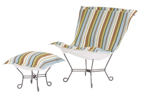 chicago textile puff chair schooner mist patio