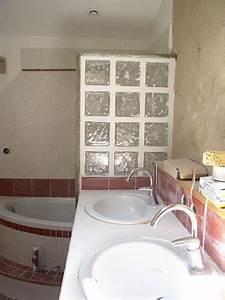 Les carreaux de verre photo de la salle de bain ca for Carreaux de verre salle de bain