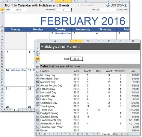 Calendars 2015 4 Months On A Page Autos Post Monthly Calendar With Holidays For Excel