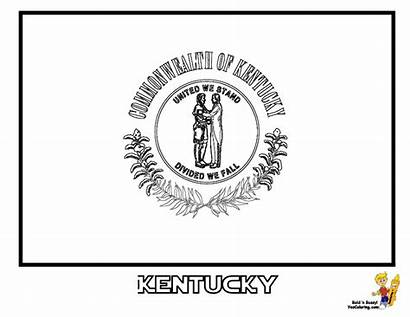Kentucky Flag State Coloring Flags Pages Symbols