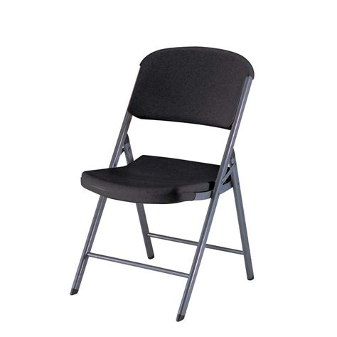 lifetime black folding chair set of 4 80187 the home depot