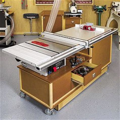 Cabinet Table Saw Mobile Base by Woodcalculator Mobile Sawing Routing Center Woodworking