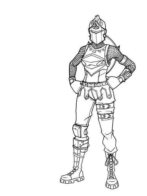 Coloring Skin by Free Fortnite Skin Coloring Pages 35 Drawing Free
