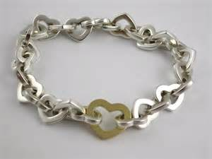 Sterling Silver Tiffany Heart Bracelet
