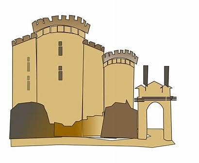 Castle Bastille Medieval Clipart Prison Illustration Cartoon