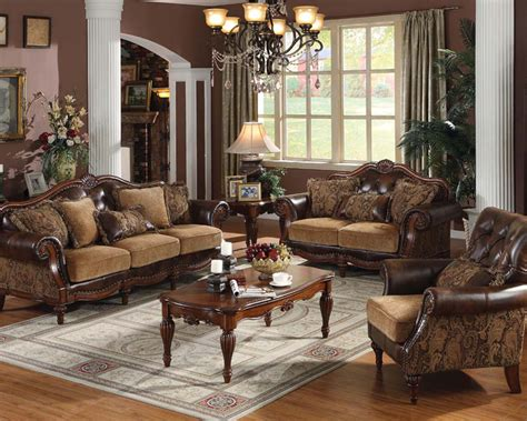 Traditional Style Loveseats by Traditional Style Sofa Set Dreena By Acme Ac05495set