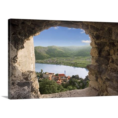 """Shop items you love at overstock, with free shipping on everything* and easy returns. Great BIG Canvas   """"Durnstein, Austria, Wachau Valley, Danube River, Durnstein Castle Window ..."""