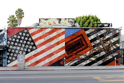 saber x shepard fairey flags mural los angeles hypebeast