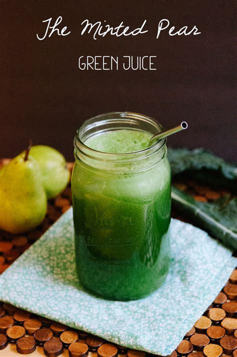 juice pear minted recipe soletshangout