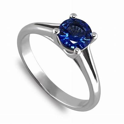 Sapphire Ring Genuine Engagement Carat Rings Solitaire