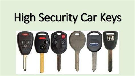 High Security Car Keys Powerpoint Presentation