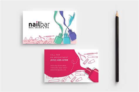nail salon business card template business card