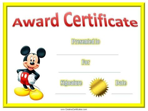 Free Printable Childrens Certificates Templates by Free Editable Certificate Of Appreciation Customize