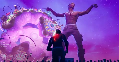travis scotts astronomical concert  fortnite attracts