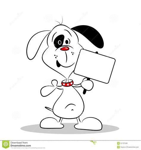 Blank Billboard cartoon dog holding  blank placard stock vector 1300 x 1390 · jpeg