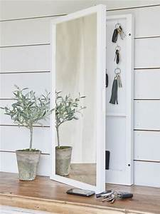 Mirrored key cabinet key hooks hallway mirror key for Kitchen cabinets lowes with bombay company wall art