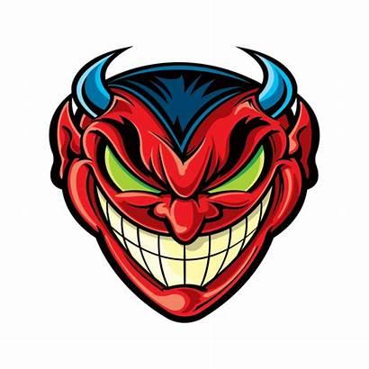 Devil Evil Satan Smiles Hell Factory Stickers