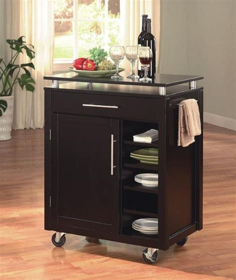 kitchen cart ideas  wheel  home  homesfeed