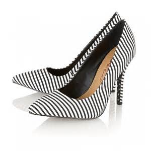 Black Shoes with White Stripes