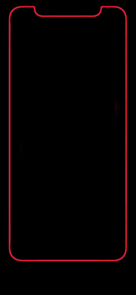 Theme Iphone Xr Wallpaper Black by Iphone X Bold Border Looks Great Iphone Wallpaper
