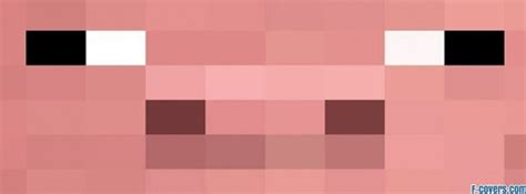 minecraft pig face facebook cover timeline photo banner  fb