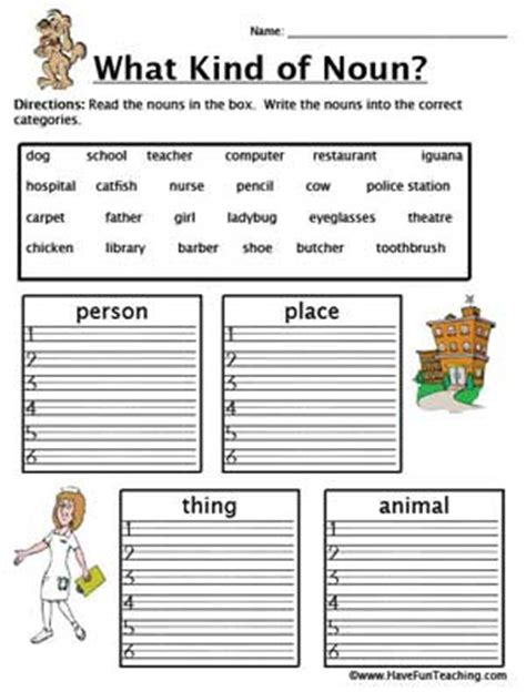 fun with nouns education world