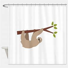 Sloth Shower Curtains  Sloth Fabric Shower Curtain Liner