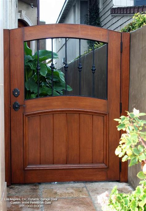 custom designed garden gate in solid wood decorative