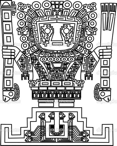 Coloring page | Ancient Americas_Moche, Inca, and