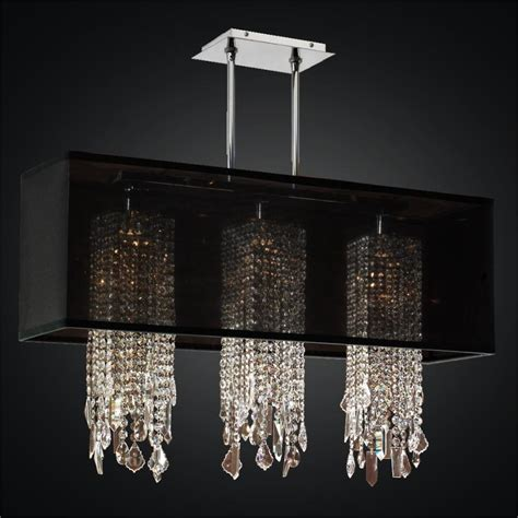 rectangular shade chandelier with omni 627m