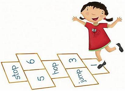 Hopscotch Games Playing Play Flashcards Children Locomotor