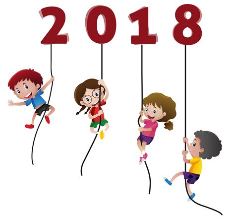 merry clipart happy new year 2018 without background