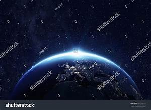 Planet Earth Space Night Some Elements Stock Photo ...