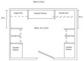 walk in closet floor plans closet shelving layout