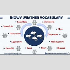 Expressing Snowy Weather In English  English Study Page