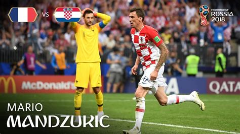 Mario Mandzukic Goal France Croatia Fifa World