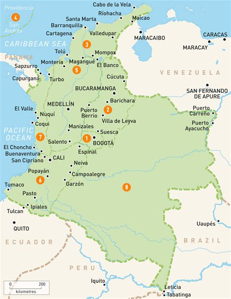 map  colombia colombia regions rough guides rough