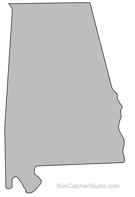 alabama map outline printable state shape stencil