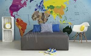 Tapete Weltkarte Kinderzimmer : fototapeten weltkarte gr e der wand ~ Sanjose-hotels-ca.com Haus und Dekorationen