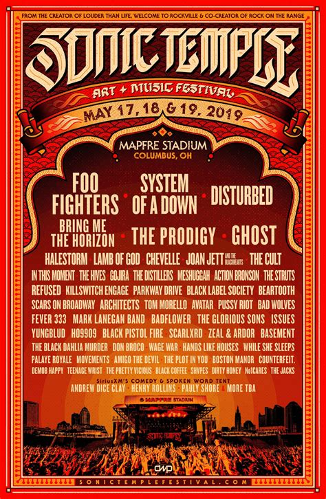 sonic temple lineup system foo fighters ghost