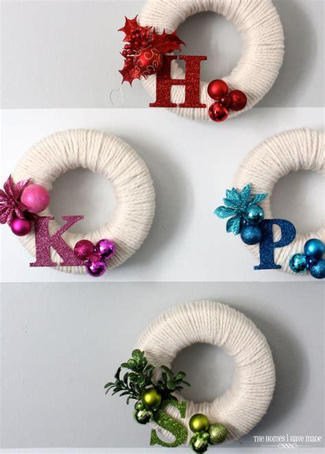 mini monogram wreaths  homes